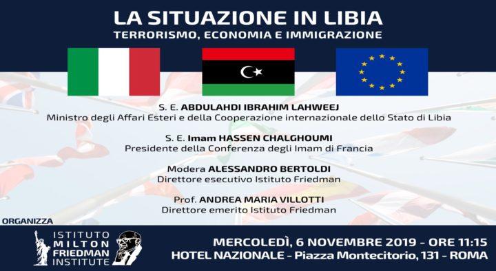 CONFERENZA STAMPA MINISTRO ESTERI LIBIA – ISTITUTO FRIEDMAN